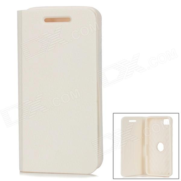 360 Degree Rotation Protective Soft Silicone Flip-Open Case for BlackBerry Z10 - White