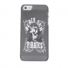 Skull Pattern Protective PVC Case for Iphone 5 - Dark Gray