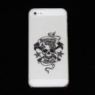 Skull and Cross Axes Pattern Protective Case for Iphone 5 - Light Grey