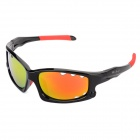 CARSHIRO 077 UV400 Protection Cycling PC Frame Resin Lens Sunglasses / Goggles for Men - Black + Red