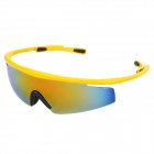 CARSHIRO 0943 UV400 Protection Cycling PC Frame Resin Lens Sunglasses / Goggles for Men - Yellow