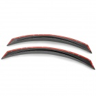 YI-238 Universal Plastic Car Fender Flares Wheel Lips - Black + Silver Grey (2 PCS)