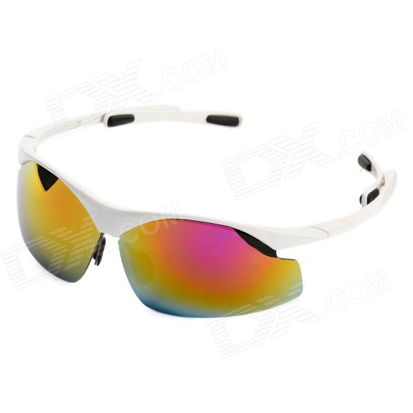CARSHIRO 0944 UV400 Protection Cycling PC Frame Resin Lens Sunglasses / Goggles - White термос vitesse alison 0 75 л