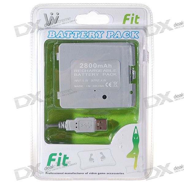USB Rechargeable 2800mAh Battery Pack for Wii Fit Balance Board
