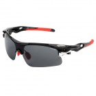 CARSHIRO T9358 Cycling Men's UV400 Protection PC Frame Resin Lens Goggles / Sunglasses - Black + Red