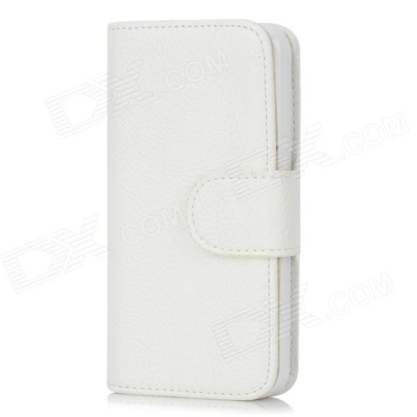 все цены на Protective PU Leather + TPU Plastic Case for Iphone 5 - White онлайн