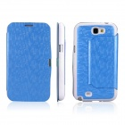 ENKAY Mosaic Pattern Protective Leather Case Cover for Samsung Galaxy Note 2 N7100 - Blue