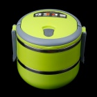 KING BOSS 304 Stainless Steel Combination Lunch Box - Yellow Green