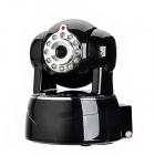 V620MW 720P 1.0MP HD Wireless-IP-Kamera Pan Tilt w / Wi-Fi / Nachtsicht / TF - Schwarz