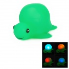Funny Floating Turtle Bath Bathing Toy w/ Light Effect - Green (2 x LR626)