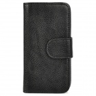 Stylish Protective PU Leather Case for Iphone 5 - Black