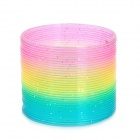 Nostalgic Plastic Spring Rainbow Rings Toy - Colorful