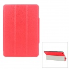 Lychee Pattern Protective PU Leather Case for Ipad MINI - Red