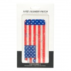 US Flag Style Decorative Protective Front Film + Back Skin Sticker Set for Iphone 5 - Red + Blue