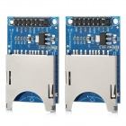 SD Card Slot Reading Writing Modules - Blue + Silver (2 PCS)