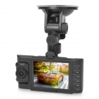 "ZEA-MD208G 2.8"" TFT Screen 1.3 MP 1/4"" CMOS Dual Camera HD 720p Car DVR w/ GPS / G-Sensor - Black"