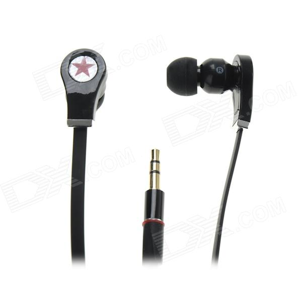 Star Pattern Stereo In-Ear Earphone - Black (3.5mm Plug / 116cm)