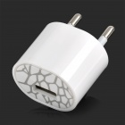 USB EU Pug Power Adapter Charger for iPhone / iPad Mini / iPod - White (100~240V)