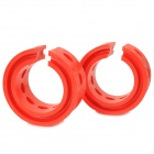 C-Type Car Spring Rubber Bumper Retainer - Red (2 PCS)