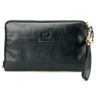Calmoon 839 Men's Genuine Cow Leather Handbag / Mobile Phone Bag / Wallet - Black
