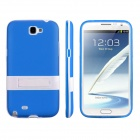 ENKAY Protective Soft TPU Back Case Cover w/ Stand for Samsung Galaxy Note 2 N7100 - Blue