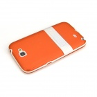 ENKAY Protective PC + Soft TPU Back Case Cover w/ Stand for Samsung Galaxy Note2 / N7100 - Orange
