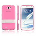 ENKAY Protective PC + Soft TPU Back Case Cover w/ Stand for Samsung Galaxy Note2 / N7100 - Pink