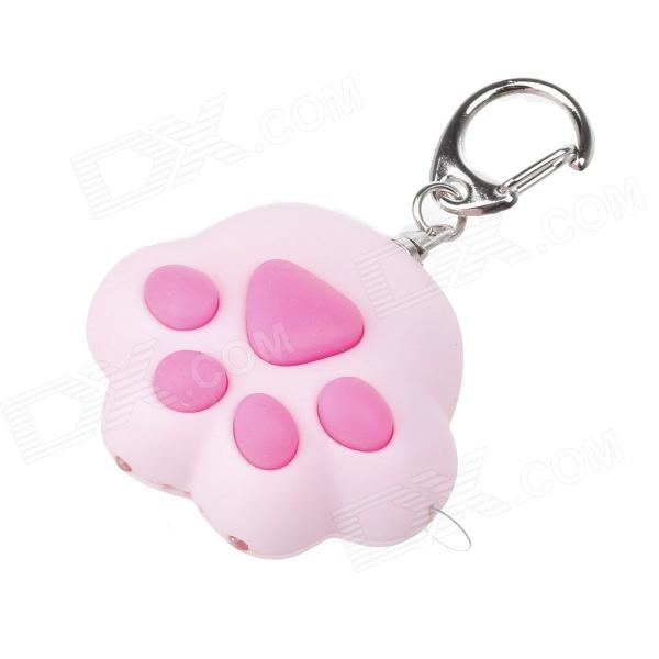 Cute Plump Cat-Pad Claw Style LED Keychain - Pink