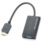 HDMI Male to VGA Female AV Adapter Converter w/ 3.5mm Jack - Black