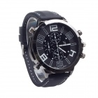 V6 Super Speed V0155 Men's Silicone Band Analog Quartz Wrist Watch - Black + White