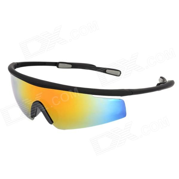 CARSHIRO 0943 UV400 Protection Cycling PC Frame Resin Lens Sunglasses / Goggles for Men - Black