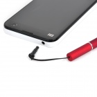 Capacitive Screen Stylus Pen w/ White Light / Red Laser / Anti-Dust Plug / for Iphone / Ipad - Red