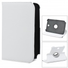 Lichee Pattern Rotatable Protective PU Leather Case for Samsung Galaxy Note / N5100 / N5110 - White