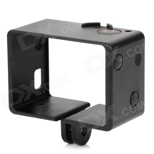 SMJ Portable Plastic Fixed Frame Case for GoPro Hero 4 / 3 - Black
