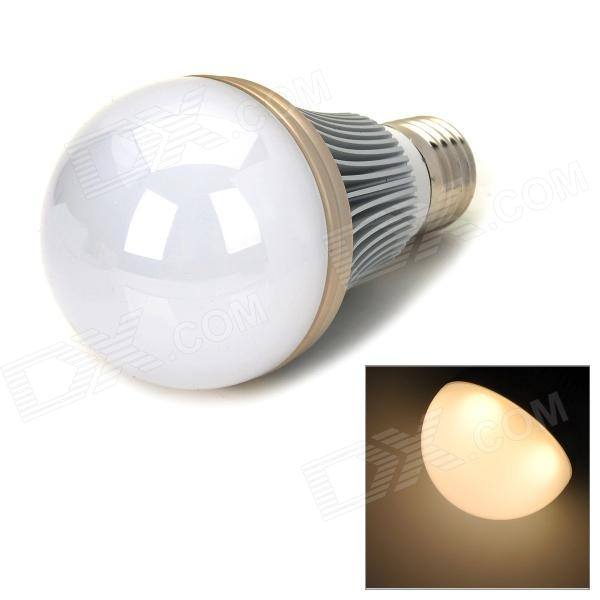 E27 5W 400lm 3500K Warm White 5-LED Light Bulb - White + Silver