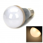 E27 5W 400LM 3500K Warm White 5 LED Light Bulb - Branco + Silver