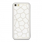 Water Cube Pattern Protective ABS Back Case for Iphone 5 - White