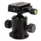 "TETOTO T3 Professional Aluminum Alloy 3/8"" Ball Head w/ Scale / Level / Quick-release Plate - Black"