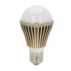E27 5W 400lm 3500K Warm White LED Light Bulb - White + Silver (100~240V)