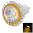 GU10 2W 120lm 3000K COB LED Warm White Light Spotlight - Silber + Weiß + Golden (85 ~ 265V)