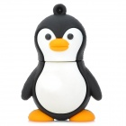 Buy Cartoon Penguin Style Rubber + Aluminum Alloy USB 2.0 Flash Drive - Black White (4GB)