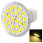 GU10 4.5W 350lm 3500K 24-SMD 5050 LED Warm White Light Lamp - Silver + White (85~265V)