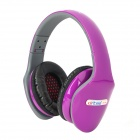 Ditmo DM-4800 Foldable Stereo Headset Headphone w/ Mic - Purple + Black + Grey