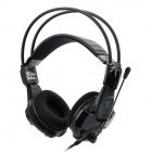 Genuine E-3lue HS707 Gaming Headphones w/ Microphone - Black (3.5mm Plug / 215cm)