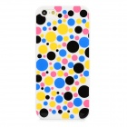 Dot Pattern Stylish Plastic Back Case for Iphone 5 - Multicolored