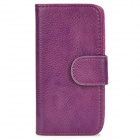 Stylish Protective PU Leather Case for Iphone 5 - Purple