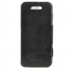 GALAS Protective Genuine Leather Case for Iphone 5 - Black