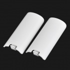 Replacement Plastic Back Cover for Wireless Wii U / Wii Right Controller Battery - White (2 PCS)