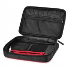 "Travel Icons Multi-Function Portable Nylon Anti-Collision Bag for 2.5"" HDD - Red + Black"