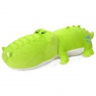 Cute Stuffed Cartoon Crocodile Style Back Cushion / Bolster for Car - Green + White
